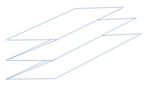 ホットカーペットを蛇腹折りにたたむやり方の画像です