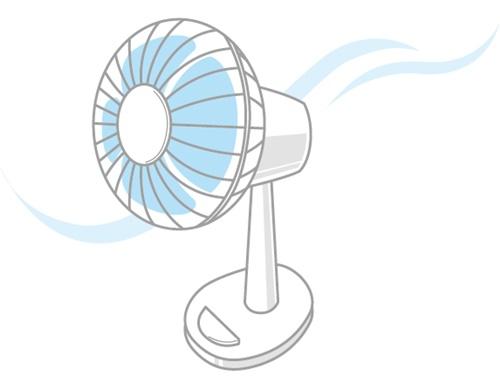 洗濯物には扇風機!早く乾かす扇風機の当て方や位置はコレ