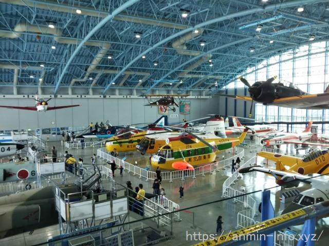浜松のエアパークの展示機の写真
