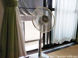 扇風機の涼しい置き方の画像