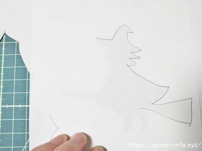 切り絵 魔女の型紙の作り方の画像