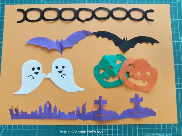 ハロウィン切り絵の型紙 無料の図案を6種類 ダウンロード!