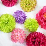 造花の髪飾りの作り方  uピンと100均グッズだけでも簡単に作れます