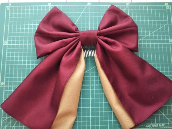 はいからさんの髪飾りの作り方 卒業式の袴に似合うリボンはコレ