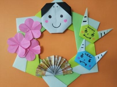 節分の折り紙リース作り方 簡単な折り方や可愛いアレンジはコレ