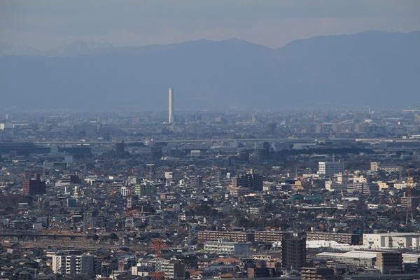 東谷山からみた名古屋市街